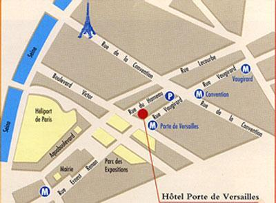 Hotel pavillon porte de versailles paris 15e for Porte de versailles plan